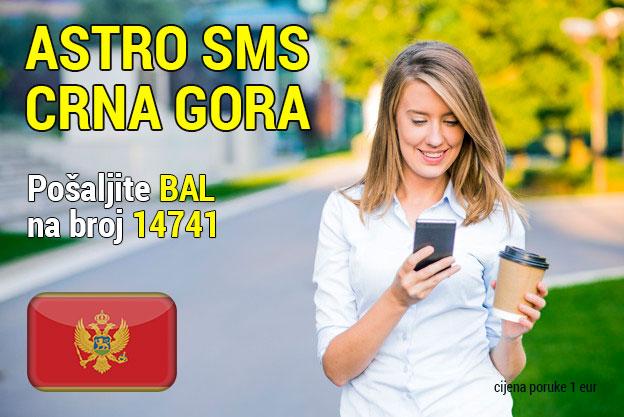 Astro sms Crna Gora