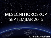 Mesečni horoskop za Septembar 2015