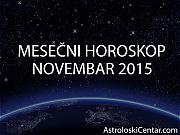 Mesečni horoskop za Novembar 2015