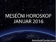 Mesečni horoskop za Januar 2016