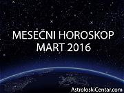 Mesečni horoskop za Mart 2016